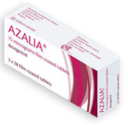 A package of Azalia contraceptives
