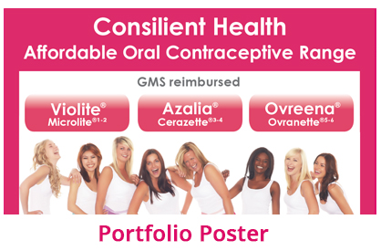 portfolio poster of contraceptive products